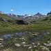 """Szenerie im oberen Val de Réchy. Dominierend der erratische Felsgipfel """"La Maya"""""""