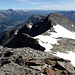 Rückblick vom Gipfel des Piz Corvatsch.