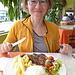 beim Lunch im Machachi vor dem Aufstieg schmeckt das Essen noch