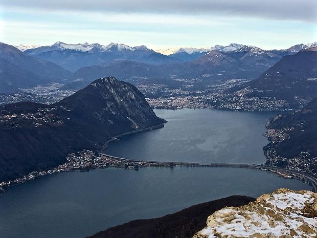 Ponte diga and Golfo di Lugano