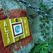 Placchetta della dimenticata Alta Via delle Grigne