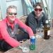 zufriedene Gesichter und das verdiente Bier nach der super Tour auf den Gran Paradiso