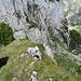 Aron auf dem dritten Gipfel von heute und so langsam kommt er an seine Grenzen
