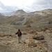 Abstieg von der Fuorcla Chamuotsch zum Crap Alv, in der Bildmitte Corn Alv (2992m)