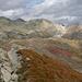 Farbenspektakel auf dem Muot Cotschen (2864m), von links Corn Margun (3035m), Piz Suvretta (3144m), Corn Suvretta (3072m) und Corn Chamuotsch (3017m)