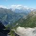 Der eindrückliche Gletschertrog von oben: links Alpja, über der Moosalp von links u.a. Hogleifa, Bietsch- und Lötschentaler Breithorn