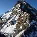 Der weitere Gratverlauf vom Chli Dirruhorn: über der Selle 3858 der Dirruhorn N-Grat, links vom Gipfel der W zu umgehende Gendarm