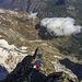 Und nochmal: Die letzten Klettermeter auf den Grand Pic, von oben gesehen