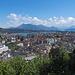 Traumaussicht vom Gütsch auf die Stadt Luzern