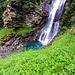 Il magnifico pozzo che invoglia ad un bagno, sempre sotto la cascata del Ri di Costa