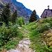 Sentiero che da Campéi porta a Fontané