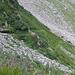 der Weg zum Tiefpunkt auf ca. 1920 m