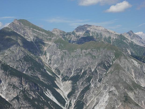 Blick über das Gschnitztal hinweg in nördliche Richtung