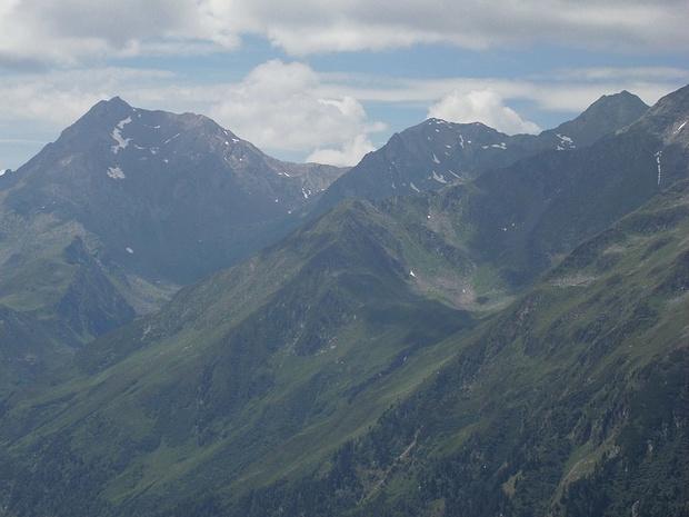 Überschrittene Berge meiner Tour des 07.08.18 im Zoom