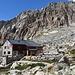 Ende der 1. Tagesetappe: SAC Almagellerhütte