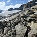 Aufstiegsgelände zum Aletschjoch, oben links.