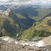 Aussicht ab Gipfel nach Nordwesten