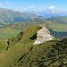 Rückblick auf den Wanderweg am Nord Grat