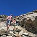 beim Abstieg gesehen, mit Kind und Kegel gehts auf den Piz Beverin