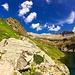 Lago Nero e a sinistra con i nevai scesi la cima del Tamierhorn