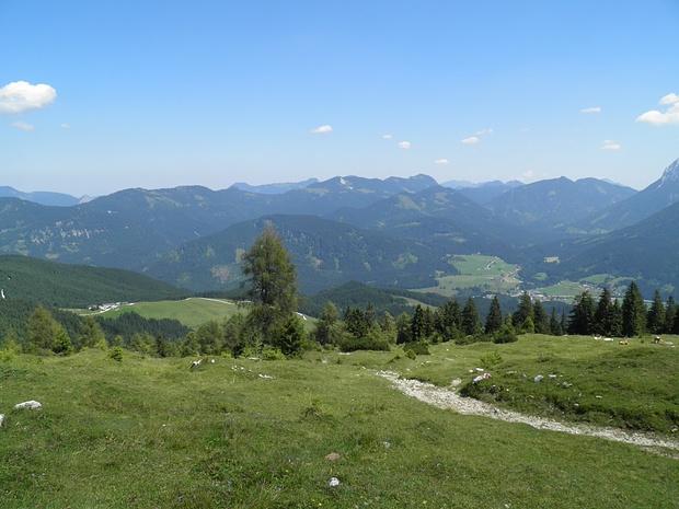 Blick nach Osten in die Brandenberger Alpen