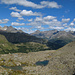 Blick zum Val da Camp, in der Bildmitte Alp Grüm
