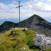 Gipfel des Oberen Risskopfs mit Krottenkopf im Hintergrund