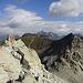 Rückblick aufs Mingalunhorn im Aufstieg zu den Grauhörnern