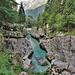 Una scenografica gola dell'Isonzo all'inizio della Valle della Lepena.
