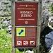 Un cartello indicatore del parco, purtroppo solo in Sloveno.