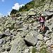 Turtmann Höhenweg quert gelegentlich ein Blockfeld