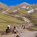 Blick zurück - für etwa 30€ kann man sich mit dem Pferd hochbringen lassen.