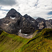 Die Trettach dominiert die Sicht auf dem Wildengundkopf.