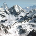 Der Monte Emilius hat Besuch vom Matterhorn, Dom und Täschhorn