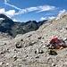 Unser Biwakplatz auf etwa 2900m