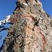 """Die """"abgefallene"""" Stelle VORHER, eingezeichnet mit der Abrisskante.<br /><br />Das Bild ist verdankenderweise von [U alpinist], [http://www.cornelsuter.ch] zur Verfügung gestellt worden!"""