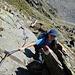 Aufstieg zur Rinnenspitze,<br />Im Gipfelbereich ein leicher Klettersteig
