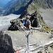 Aufstieg zur Rinnenspitze