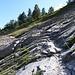 Bergweg in der Nähe von Jorasse