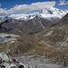 Blick zurück auf die Zelte, hinten Huascaran