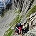 Abstieg von der Bergseelücke.