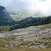 Tiefblick hinunter zur Alp Rohr