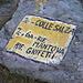 Zum Glück bezeichnen die Ziffern nur Wegnummern und nicht französische Schwierigkeitsgrade...(Foto vom 1.10.2011)