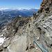 Abstieg vom Rifugio Quintino Sella auf dem gut markierten und gesicherten Hüttenweg