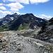 Colle Bettaforca in Sicht: darüber Monte Bettaforca, Ròthòre und Testa Grigia