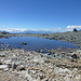 Einer der bezaubernden Schmelzwasserseen beim Passo Bettolina