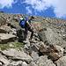 André am Beginn des weglosen Aufstiegs vom Europaweg über die Breithorn Westflanke.