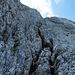 Rinnen führen schließlich weitgehend entspannt zum Gipfel