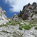 die einzige Lücke durch die Felsfluchten oberhalb des Urnerboden