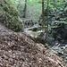 Nach dieser Brücke erreicht man den eigentlichen Schofgraben.